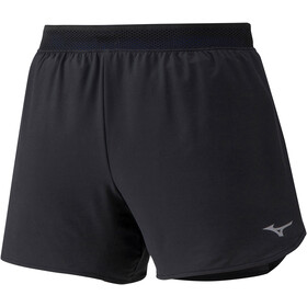 Mizuno ER 4.5 2-in-1 Shorts Dames, black/dazzling blue